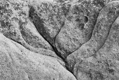 Eroded rock